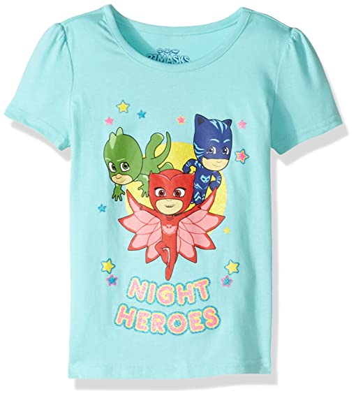PJ MASKS Little Girls Short Sleeve Tee Shirt, Mint, ...