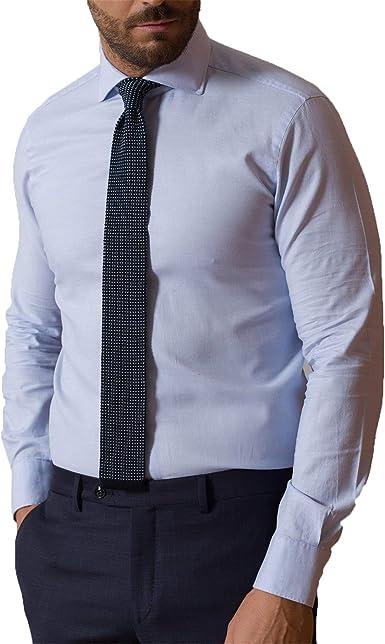 Barba Napoli - Hombre de la Camisa de Algodón de Mangas Largas K1U66H597301U: Amazon.es: Ropa y accesorios