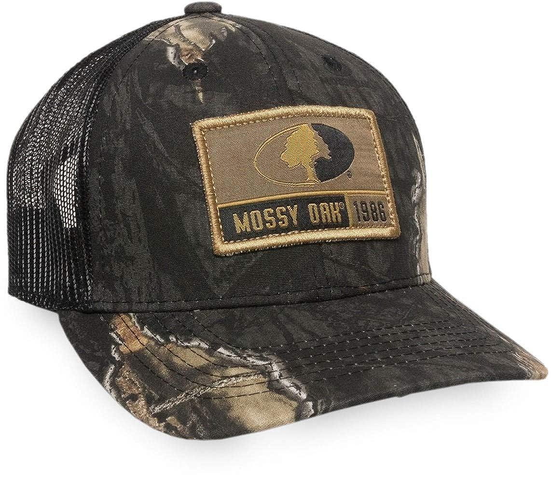 Mossy Oak Break-Up Eclipse Woven Label Scout Patch Mash Back Camo Cap