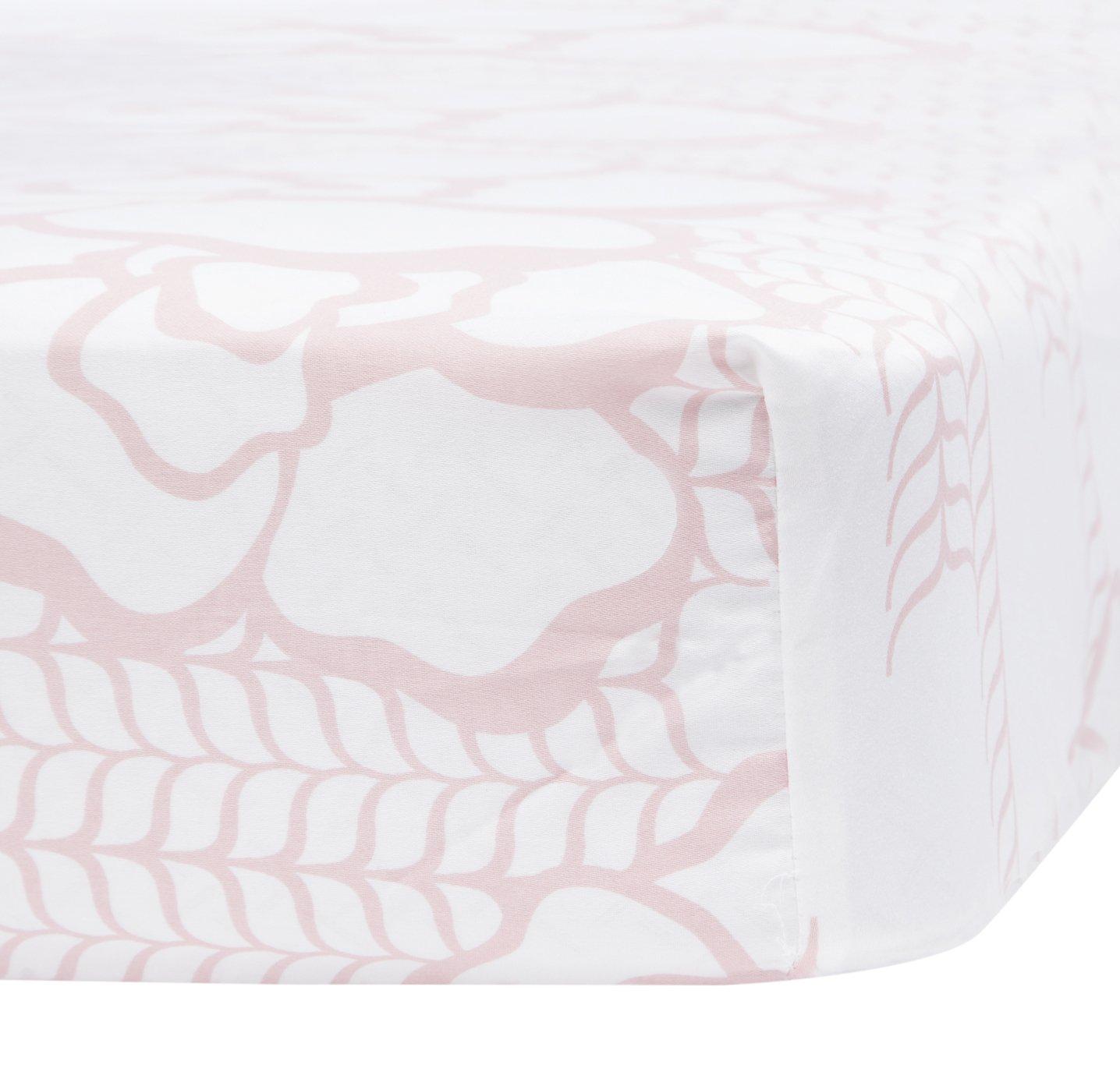 Oilo Capri Jersey Crib Sheet, Blush by Oilo