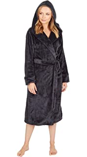b3e66185a5 CityComfort® Luxury Dressing Gown Ladies Super Soft Robe with Fur ...