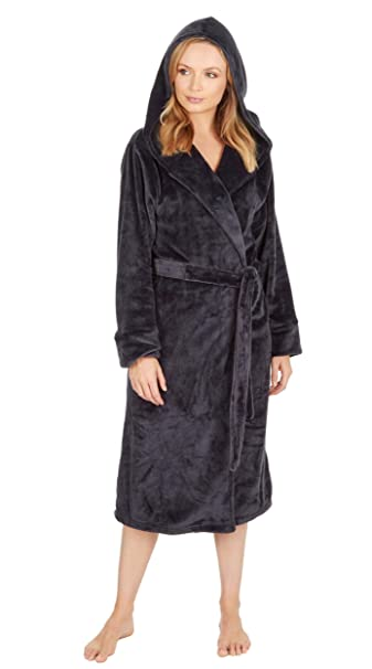 Best Deals Direct Ladies Insignia® Hooded Fleece Dressing Gown   Amazon.co.uk  Clothing e636a0142