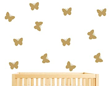 36Pieces DIY Butterfly Wall Stickers, Wall Decals, Kids Room Wall Decals, Wall  Decal