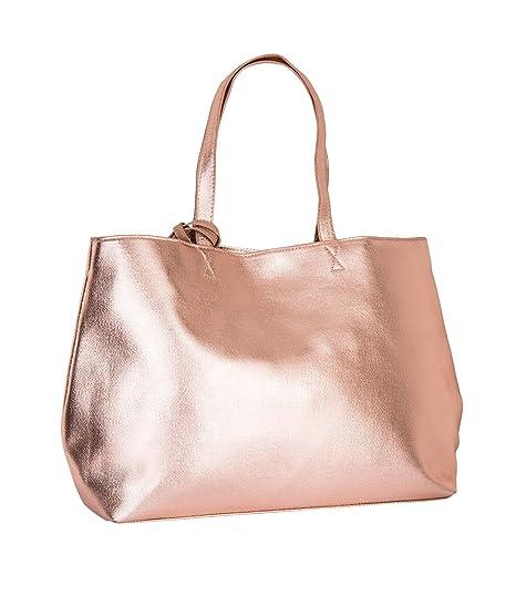 6064774b1d696 SIX Großer Damen Shopper  Metallic Handtasche für Freizeit und Alltag