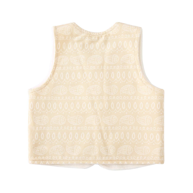 pureborn Baby Warm Jacket Cotton Vest Spring and Fall Children Waistcoat 0-3 Years