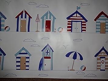 Casetas de playa Mantel de hule vinilo PVC Material para manualidades de cuadros delantales ect longitud 1 metro: Amazon.es: Hogar