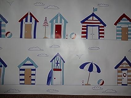 Casetas de playa Mantel de hule vinilo PVC Material para manualidades de cuadros delantales ect longitud