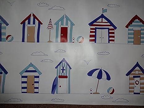 Casetas de playa Mantel de vinilo PVC de hule material para manualidades de cuadros delantales ect
