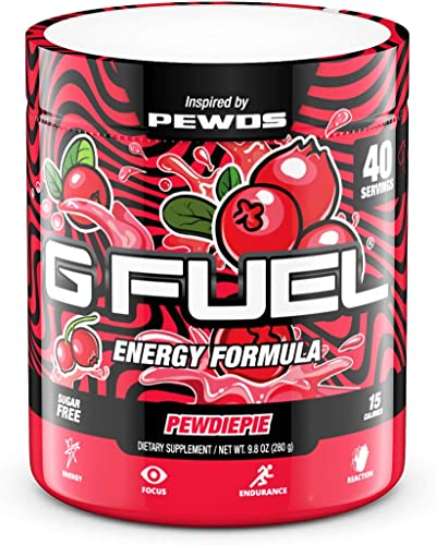 G Fuel Pewdiepie 40 Servings Elite Energy and Endurance Formula 9.8 oz. Inspired by Pewds