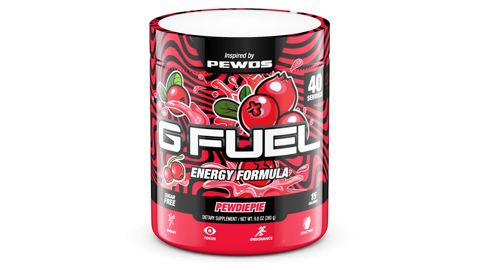 G Fuel Pewdiepie (40 Servings) Elite Energy and Endurance Powder 9.8 oz. Inspired by Pewds