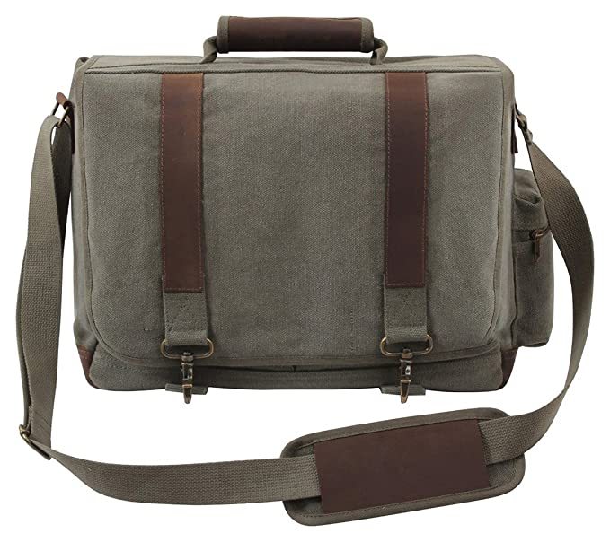 Amazon.com  Rothco Vintage Canvas Pathfinder Laptop Bag  Sports ... ef60a04fdb3