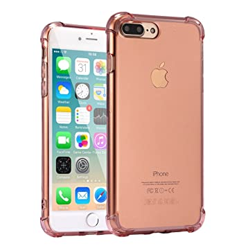Funda iPhone 7 Plus, Carcasa Protectora de Silicona Transparente, con TPU Antigolpes, para iPhone 7 Plus de 5.5