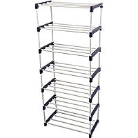 Novatic Heavy Duty Metal, Plastic Foldable Book Shelf (7 Shelves)