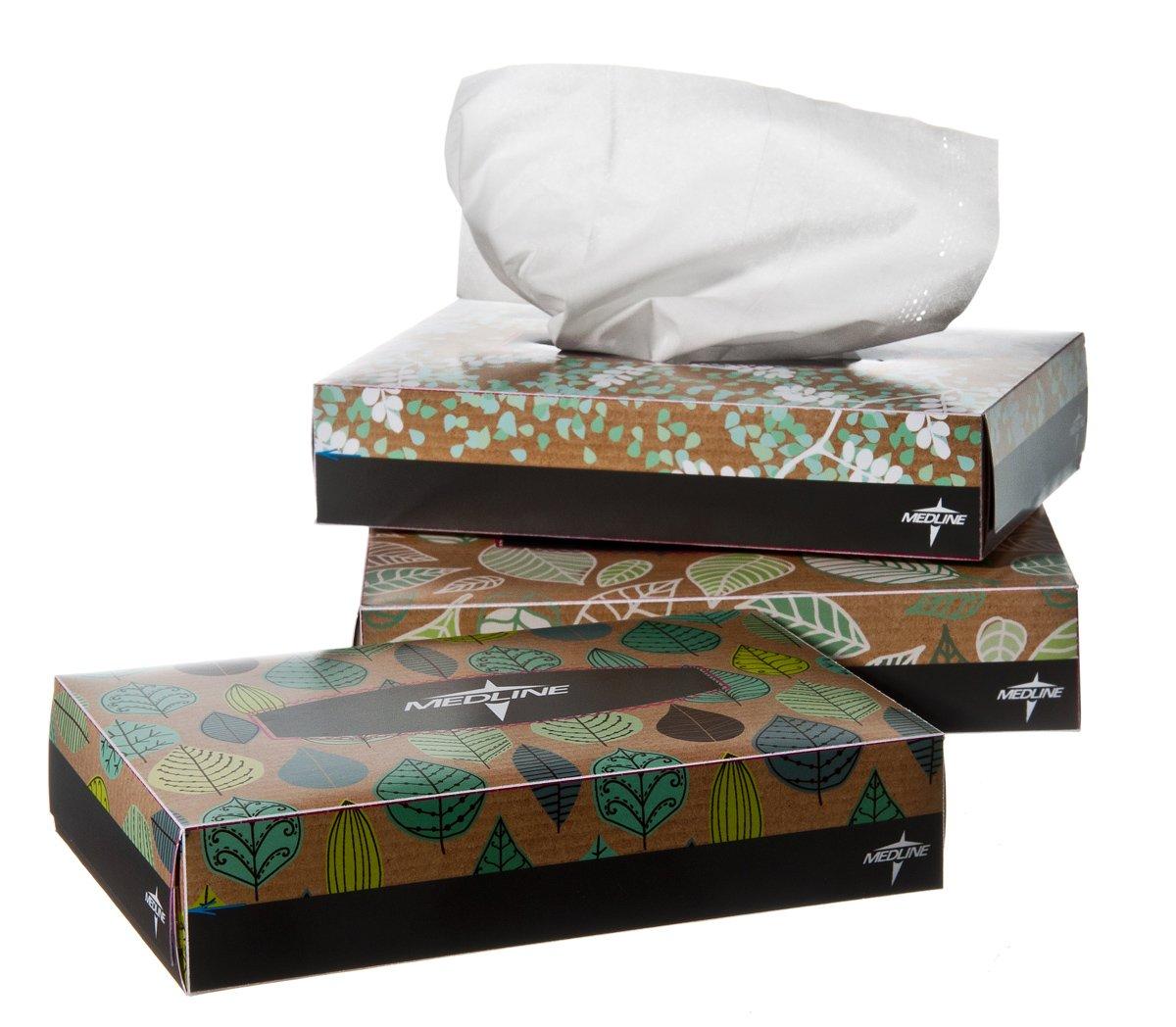 Medline NON243276 Standard Facial Tissues (Pack of 72)