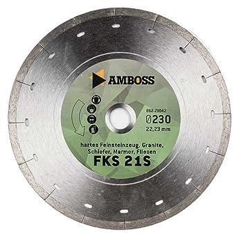 /de diamante/ yunque FFS 21/est/ándar/ /Hartes porcelanato //granito//pizarra//m/ármol//Azulejos altura del segmento: 5/mm hasta 0,8/cm /Ø 115 mm x 22, Di/ámetro /& orificio estampada