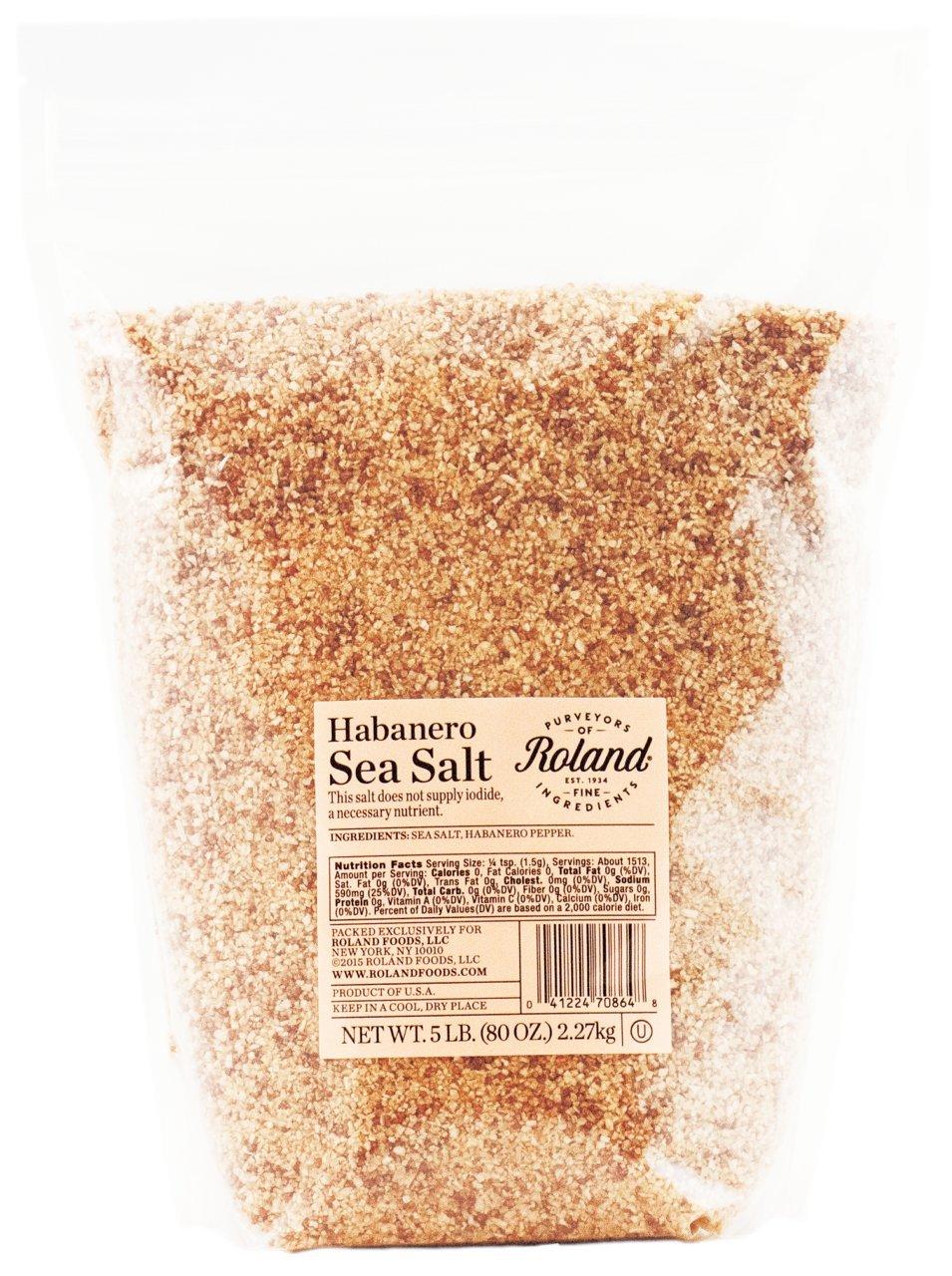 Roland Foods Sea Salt, Habanero, 5 Pound