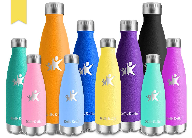 KollyKolla Botella de Agua Acero Inoxidable Termica Oficina Termos Agua Ecológica Frascos Térmicos Deportiva Termo Niños