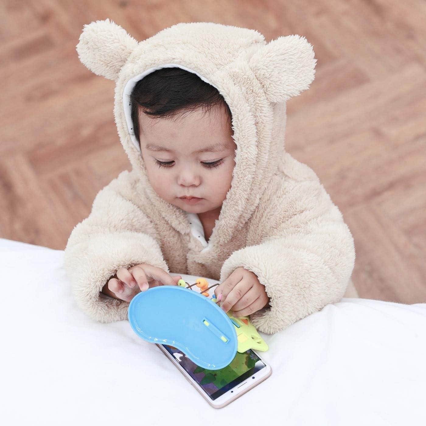 FEOYA Baby Schneeanz/üge Winter Flanell Schlafsack mit Beinen Strampler Karikatur Tier Muster Fleece Spielanzug Neugeborenes M/ädchen Junge Warm Outfits
