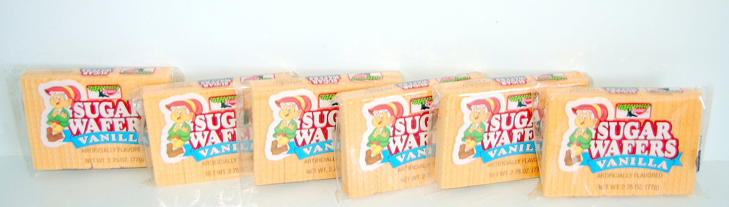 Keebler Sugar Wafers Vanilla - 6 Pack (2.75 Oz.) Small Storage Space Friendly!