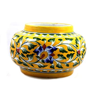 Amazon Com Ceramic Flower Vase Pot Home Planter Handmade Decorated