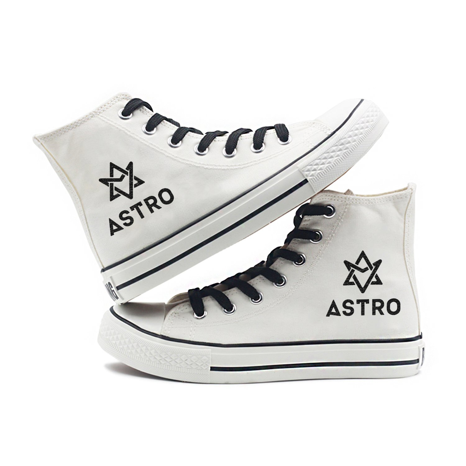 Fanstown Kpop Sneakers Canvas Shoes Womens' Size White Fanshion Memeber Hiphop Style Fan Support with lomo Card