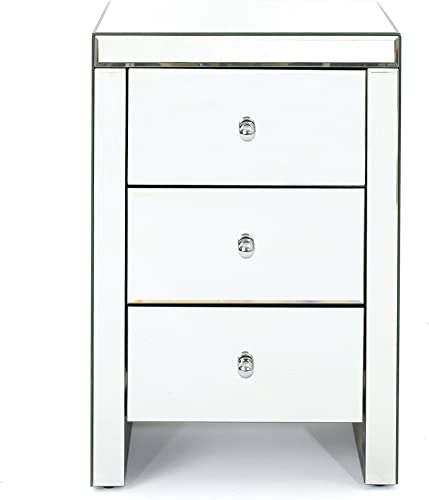 Christopher Knight Home Fianna Classic Mirror Finished 3-Drawer Side Table