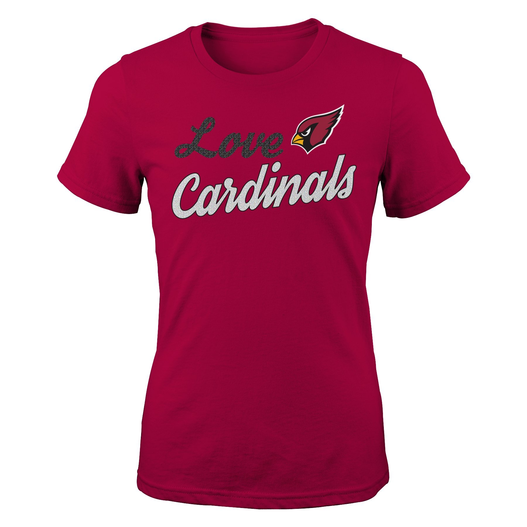 NFL Girls 7-16'' Live Love Team Short Sleeve Tee-Cardinal-L(14), Arizona Cardinals by NFL by Outerstuff (Image #2)