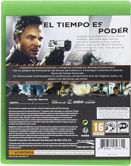 Quantum Break - Standard Edition: Amazon.es: Videojuegos