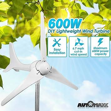 Automaxx Windmill 600W (12V / 24V) (50A / 25A) Wind Turbine