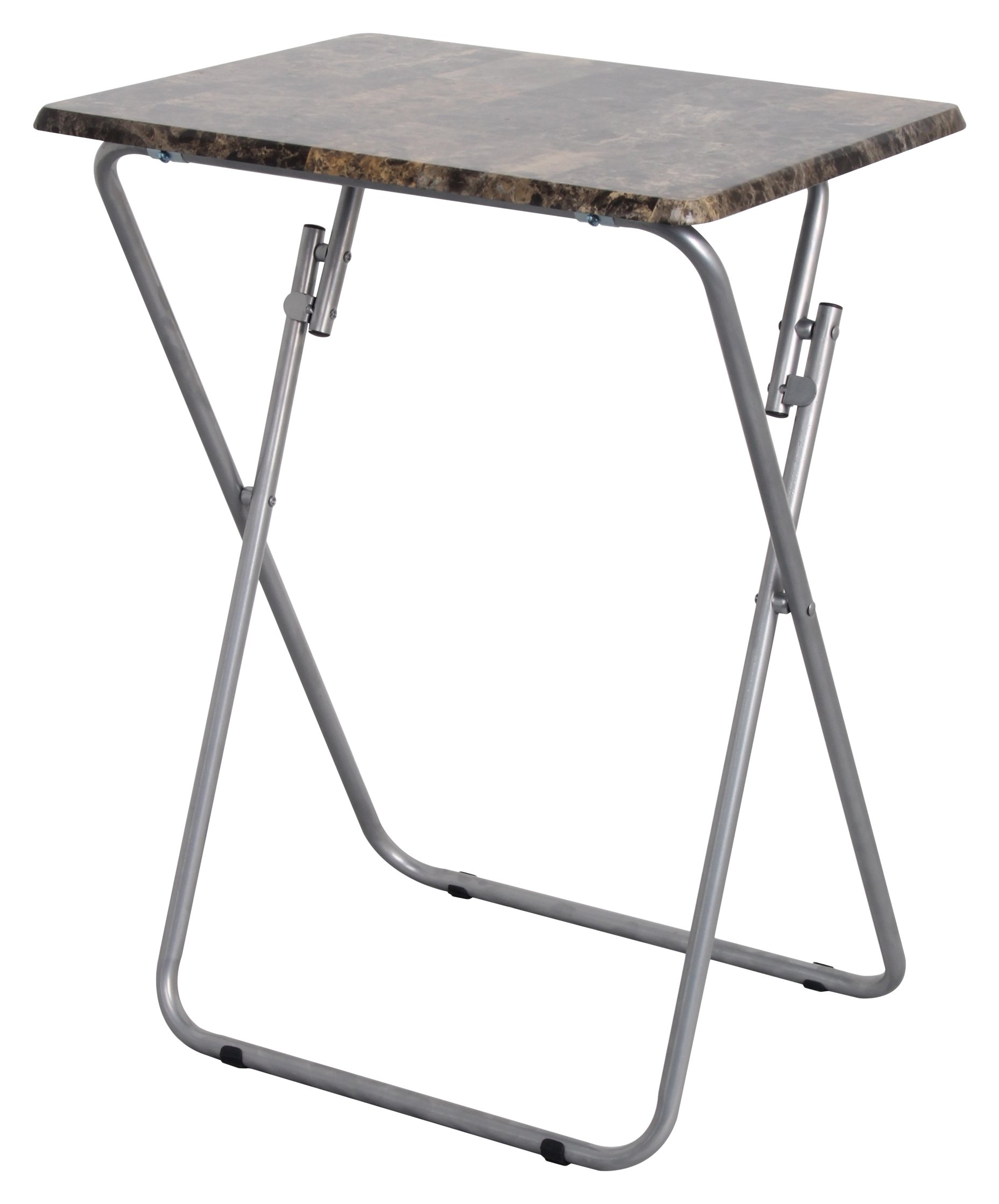 Above Edge Folding TV & Snack Tray Table, Marble