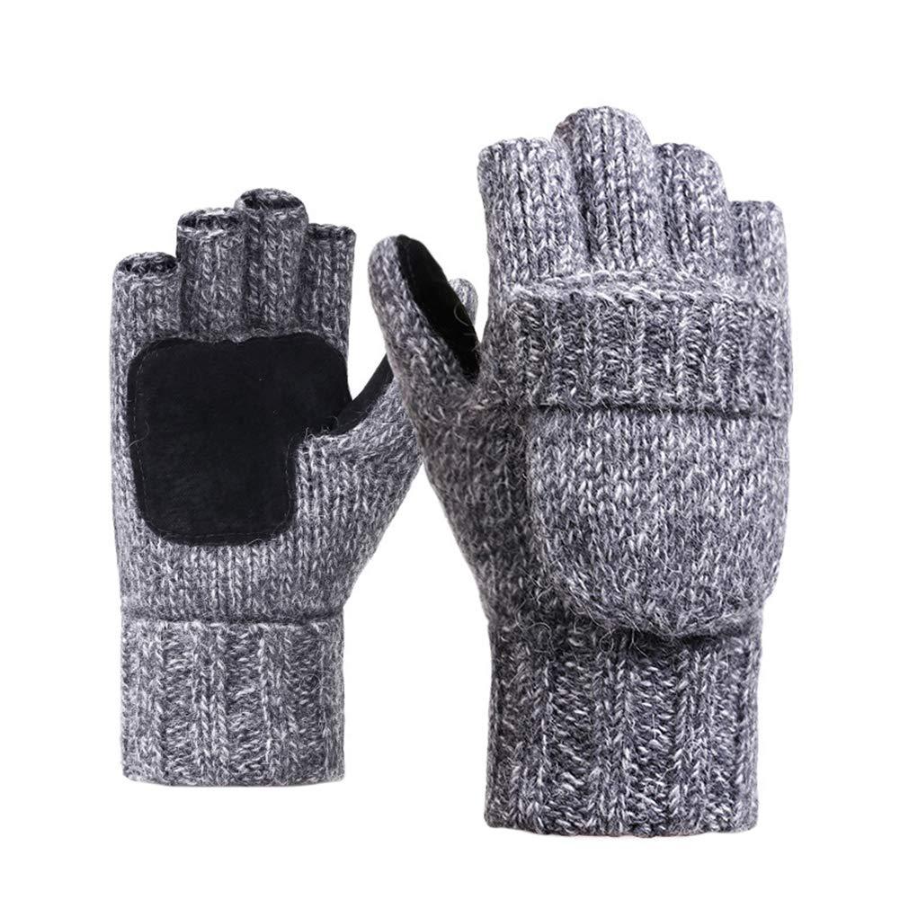 Monbedos 1 Paire Extérieur Gants Gants d'hiver Gants Chauds Gants Homme Femme Hiver 24 * 20cm