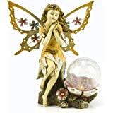 Fairy 太阳能花园灯,带变色 LED 裂纹玻璃球