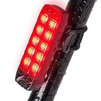 Luz trasera para bicicleta, resistente al agua, recargable por USB ...