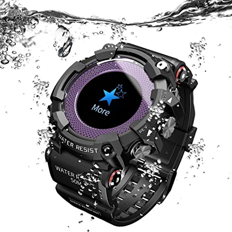 Grerushen Pantalla de Colores Reloj Inteligente Ritmo cardiaco Deportes Salud Rastreador inalámbrico Bluetooth Fitness