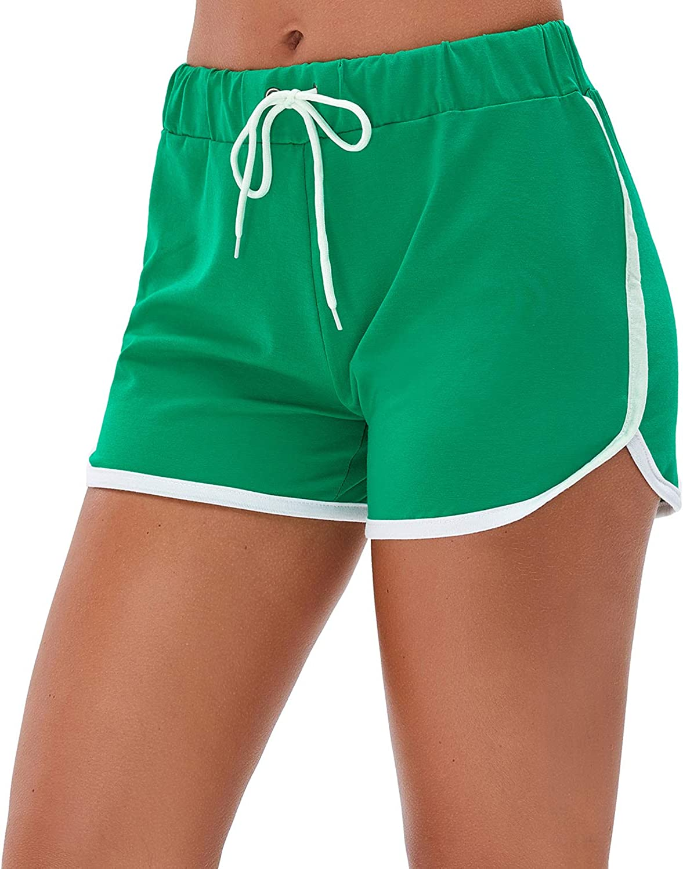 Little Beauty Women's Yoga Elastic Waist Running Athletic Shorts