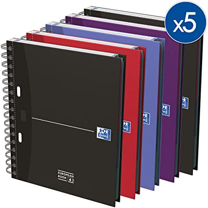 Oxford Essentials - Pack de 5 cuadernos en espiral doble, tapa ...