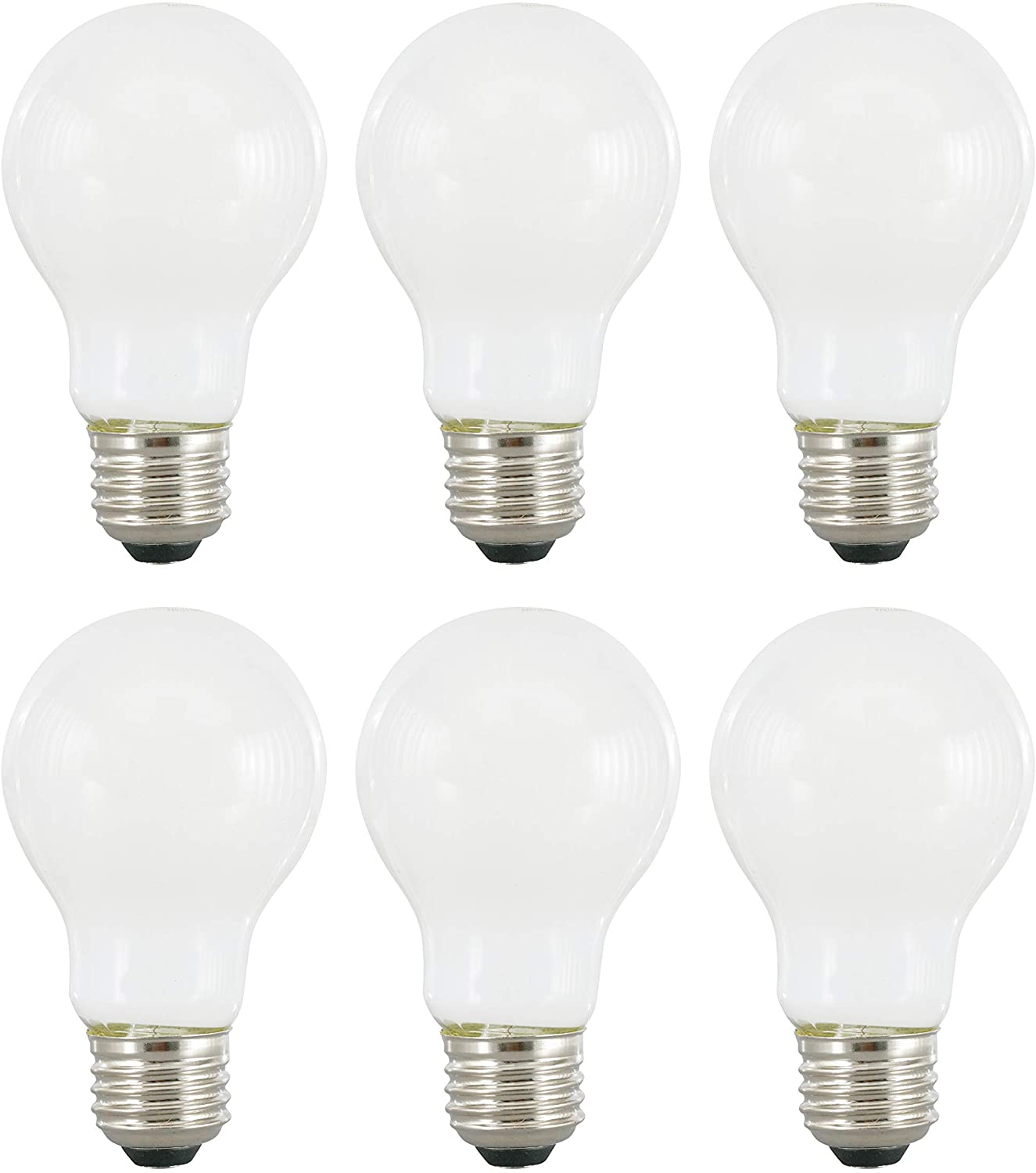 SYLVANIA General Lighting 40813, Soft White SYLVANIA LED A19 Natural Light Series, 60W Equivalent, Efficient 8W, Dimmable, Frosted Finish, 2700K Color Temperature, 6 Pack