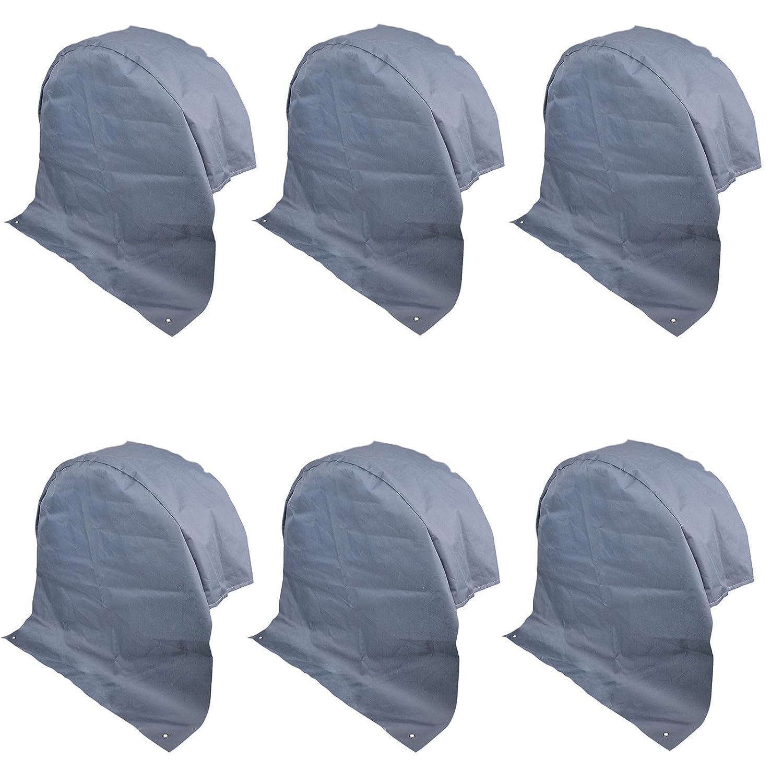 6x Wohnwagen Radabdeckung grau UV Schutz Polyestergewebe mit Anker Ö sen Pat