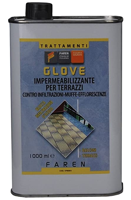 GLOVE lt. 1 Impermeabilizzante per terrazzi: Amazon.it: Fai da te