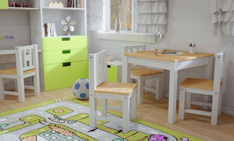 Style Meubles enfants Luca IB 3 combinaisons  Set: 1 table et 2 chaises enfant Chambre enfant Meuble enfant Mobilier Chaise denfant Baby