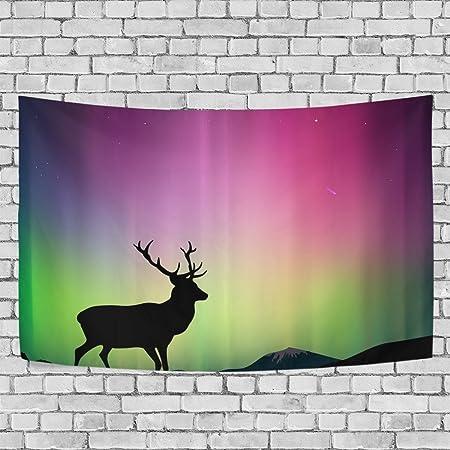 Sunlome Deer Colorful Sky Home Decor, The Northern Lights Deer ...