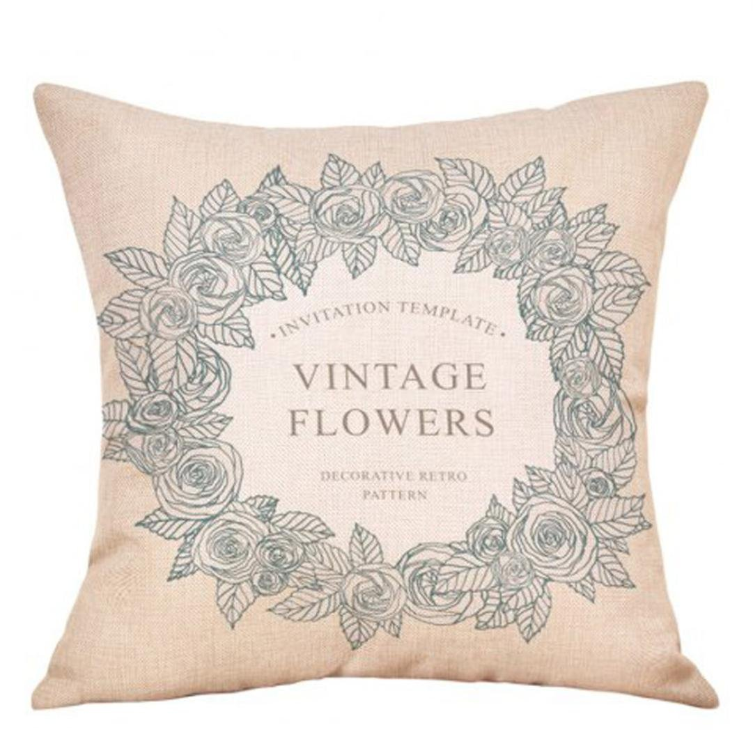 Clearance Sale Valentine's Day Decorative Pillowcases Throw Pillow Case Cushion Covers Couch Sofa Home Decor 18'' x 18'' (C)