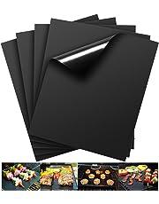 Barbacoa Matte (Juego de 3) para asar y Hornear | de silicona con teflón antiadherente–40x 33cm, ideal para gas–Parrilla de Carbón–E Microondas y apta para horno | LFGB y FDA Autorización
