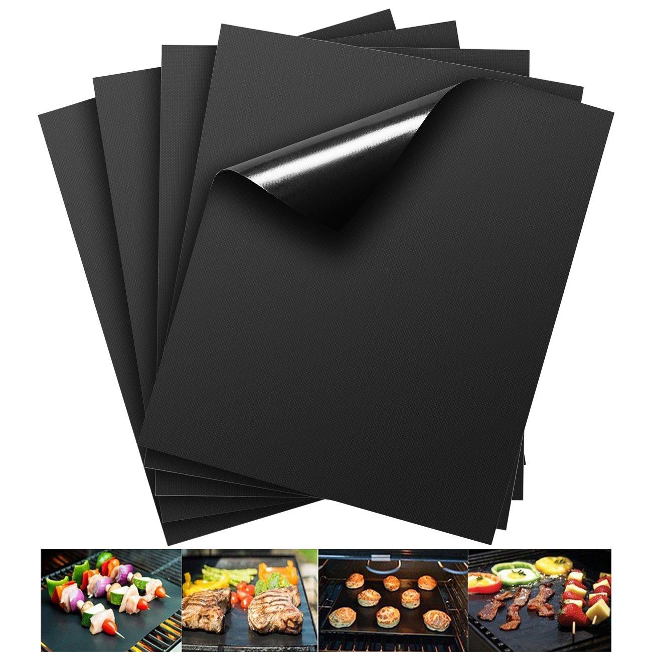 Barbacoa Matte (Juego de 3) para asar y Hornear | de silicona con teflón antiadherente – 40 x 33 cm, ideal para gas – Parrilla de Carbón – E ...