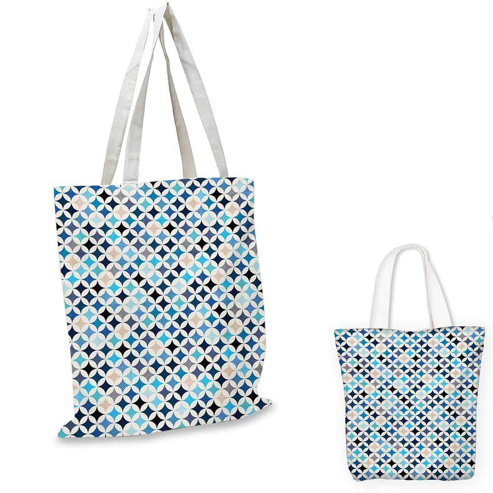 16x18-13 Modern canvas messenger bag Geometric Contemporary Shapes Triangle Line with Clear Cloud Backdrop Image canvas beach bag Pale and Baby Blue
