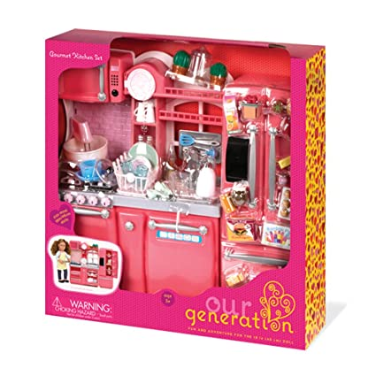 Amazon Com Our Generation Gourmet Kitchen Sets For 18 Doll Toys