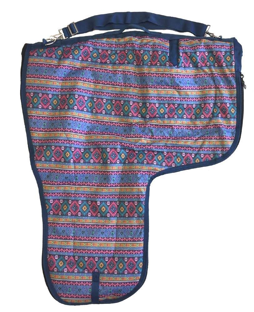 AJ Tack Wholesale Western Saddle Carrier Case Storage Bag 600D Waterproof Padded Aztec Print by AJ Tack Wholesale