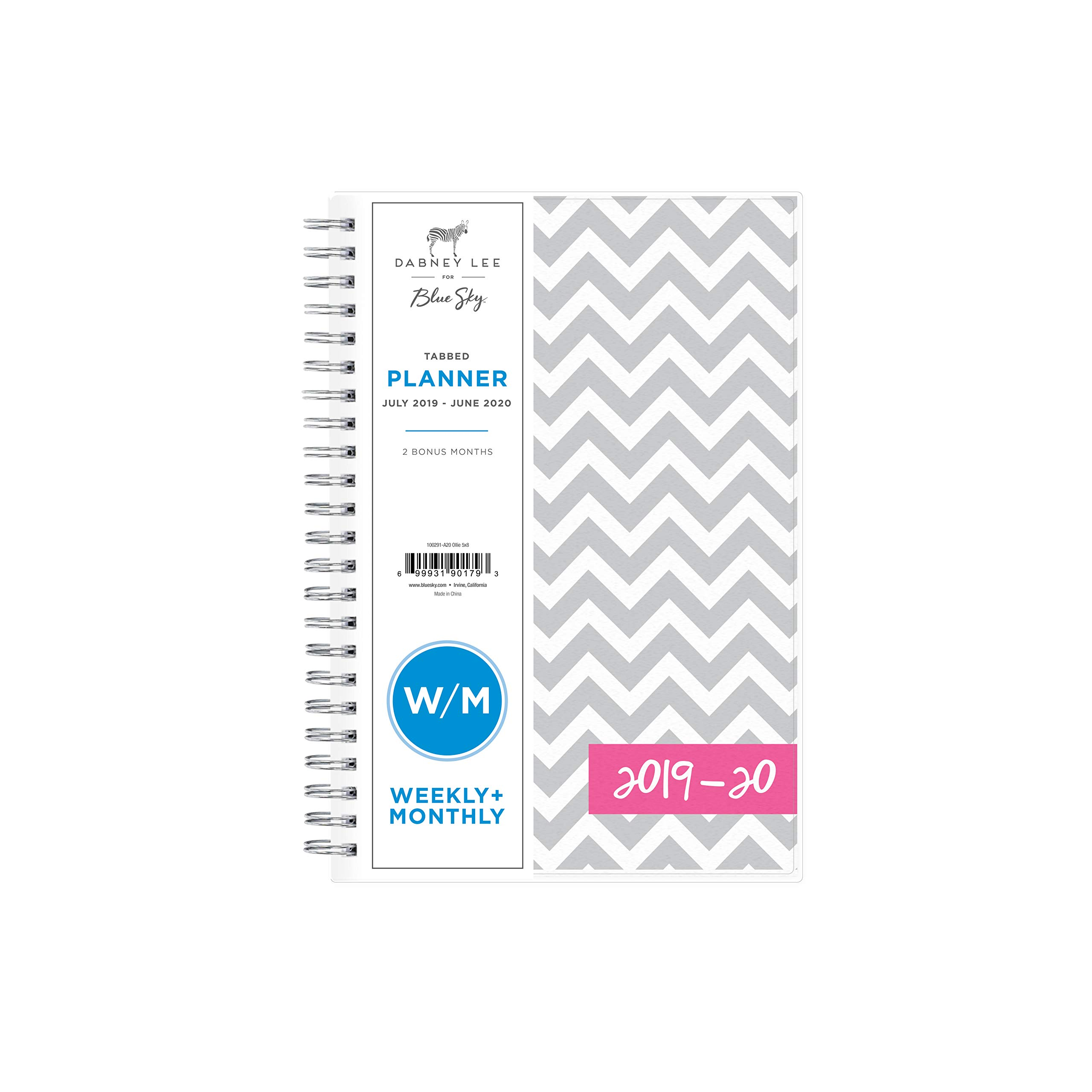 Dabney Lee for Blue Sky 2019-2020 Academic Year Weekly & Monthly Planner, Flexible Cover, Twin-Wire Binding, 5'' x 8'', Ollie by Blue Sky