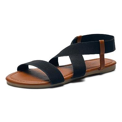 c612de572112 Sandalup Women s Elastic Flat Sandals  Amazon.co.uk  Shoes   Bags