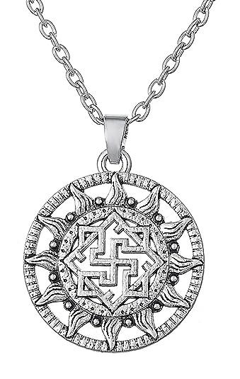efec53f946fa6 Dawapara Ancient Nordique Odin Valkyrie Symbole Amulette Viking Norse  scandinave Ethnique Pendentif Collier Bijoux pour Femme